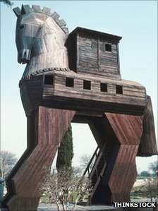 Trojan Horse replica in Turkey