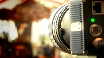 Camera pointed at a fairground
