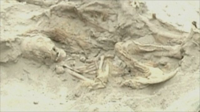 One of the skeletons found