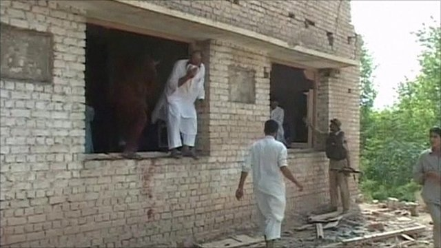 Aftermath of suspected suicide attack