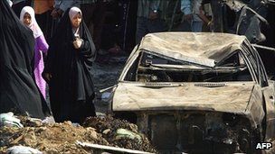 Thousands of Iraqis were killed in sectarian suicide bombings
