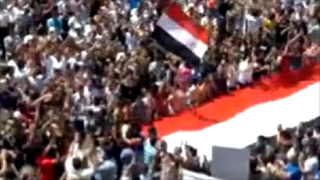 Rally in Busur-al-Harir, Syria