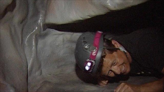 Mike Bushell caving
