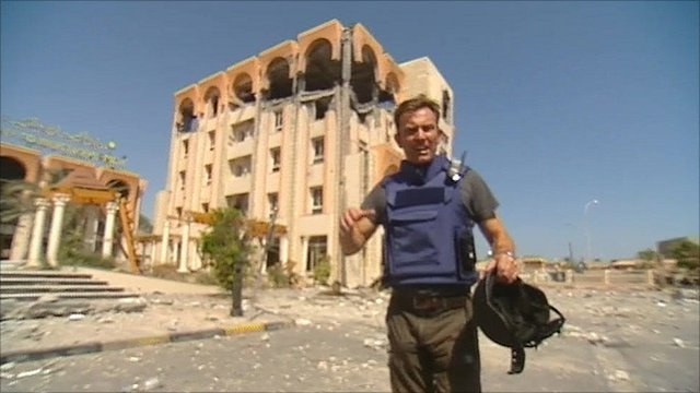 The BBC&#039;s Rupert Wingfield-Hayes in Zawiya 
