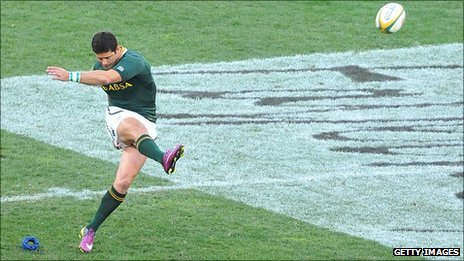 Morne Steyn kicked five penalties and a drop-goal for South Africa