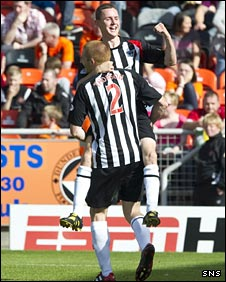 Paul Burns celebrates
