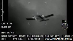 Colombian Air Force picture of suspect plane