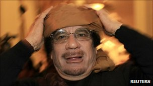Col Muammar Gaddafi (file photo)