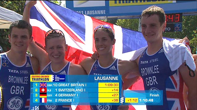 GB power to team triathlon gold in Lausanne