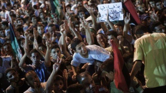 Rebels celebrate in Tripoli