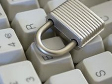 Keyboard with a padlock