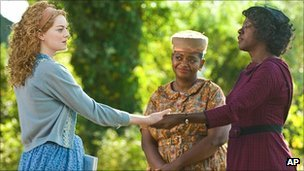 Emma Stone, Octavia Spencer and Viola Davis in The Help