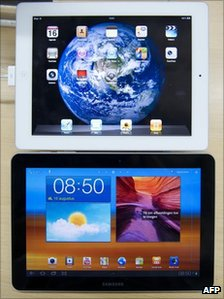 The Apple iPad and Samsung Galaxy Tab