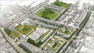 Plans for the development of North Place and Portland Street