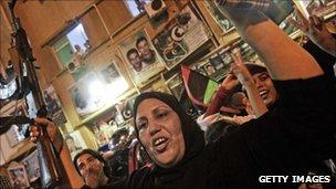 Libyan woman in Tripoli with a gun