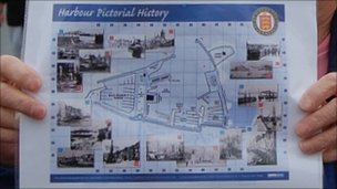A map of St Peter Port Harbour