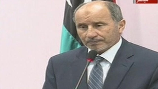 The head of the rebels' National Transitional Council Mustafa Abdul Jalil