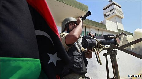 Libyan rebel soldier in Tripoli. 22 Aug 2011