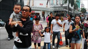 Malaysian people in the street