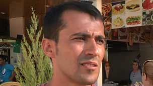 Restaurant owner Hassan Karadaj