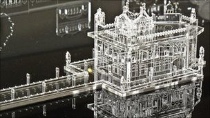 Perspex model of the Golden Temple