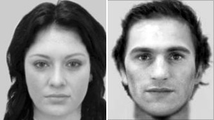 A e-fit of the couple police want to trace
