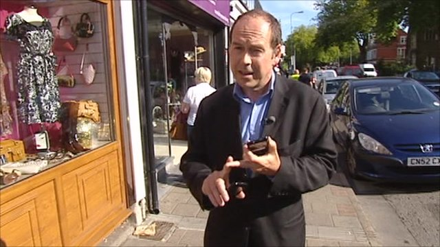 Photo: The BBC's Rory Cellan Jones in a street scene