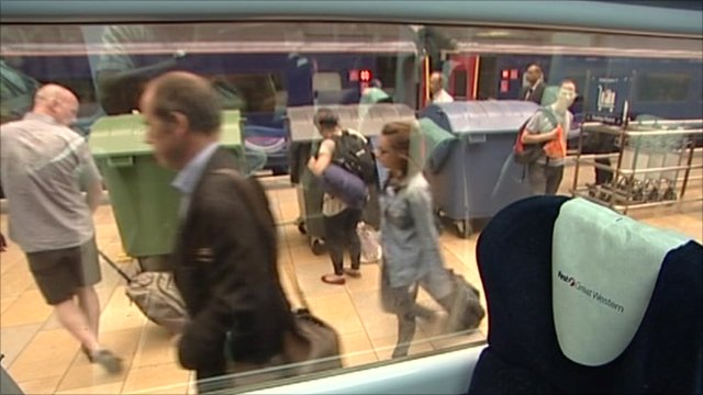 Photo: The BBC's Rory Cellan Jones on a train platform