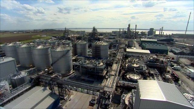 The Vivergo biofuel plant in Saltend, near Hull