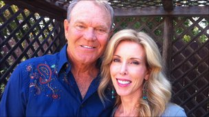 Glen Campbell and his wife Kim