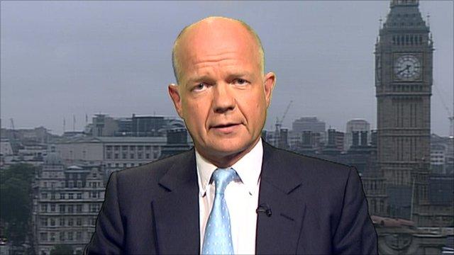 British foreign secretary, William Hague
