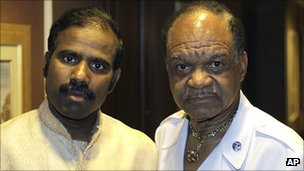 Dr KA Paul, left, with Walter Fauntroy on 23 August