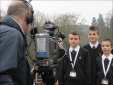 School Reporters do their 'PTC'