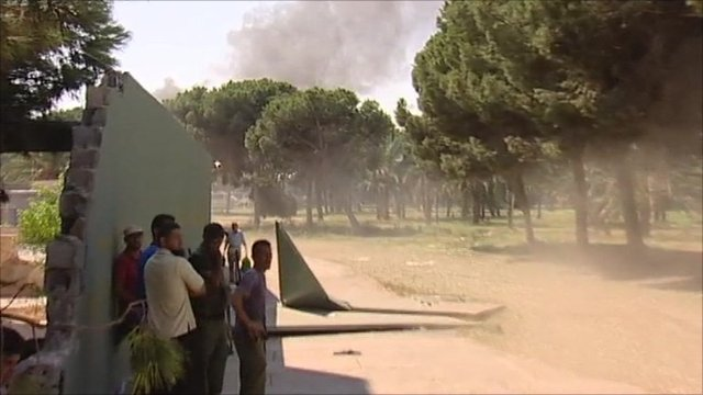 Col Muammar Gaddafi's compound