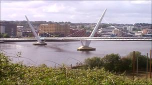 Peace bridge in Derry