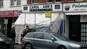 Hairdresser's in Malpas Road, Newport where the shooting happened