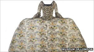 The Fanshawe dress that once belonged to the Lady Mayoress of the City of London