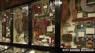 Body Arts case at Pitt Rivers Museum