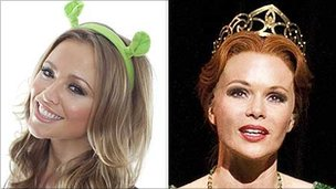 Kimberley Walsh and Amanda Holden