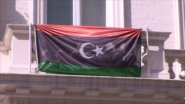 Flag outside Libyan investment authority in London