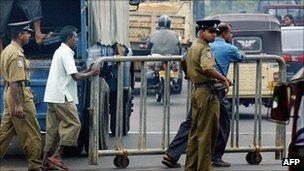 Police in Colombo