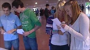 Pupils get GCSE results