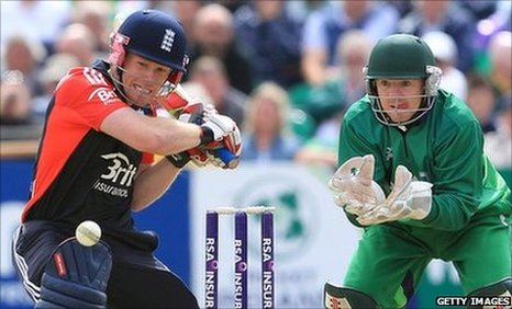 Eoin Morgan (l) and Niall O&#039;Brien