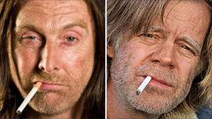 David Threlfall and William H Macy as Frank Gallagher
