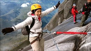 Carmen Roberts on Mount Kinabalu