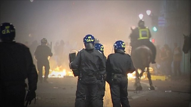 Rioting in London earlier this month