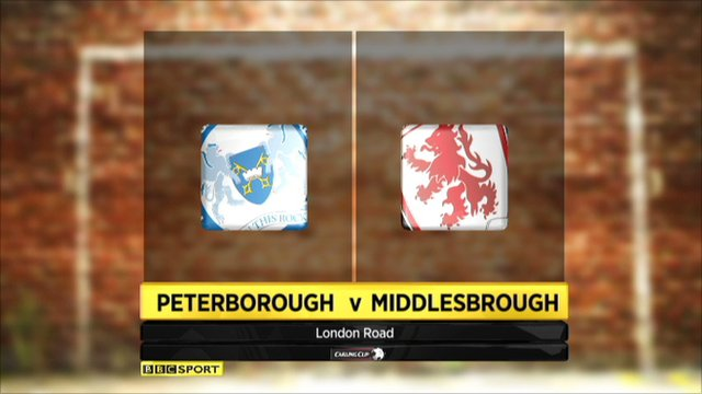 Peterborough 0-2 Middlesbrough