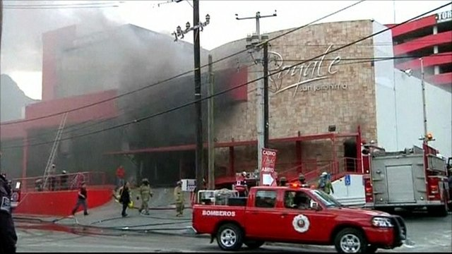 Smoke filled Monterrey casino following attack