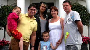 Families at Byng House in Southport