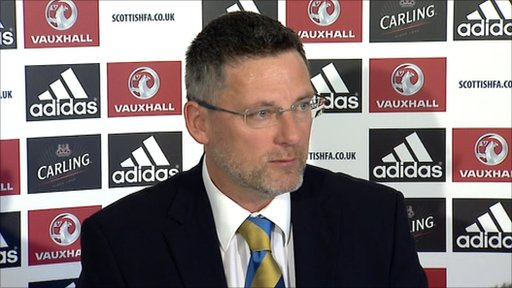 Scotland head coach Craig Levein